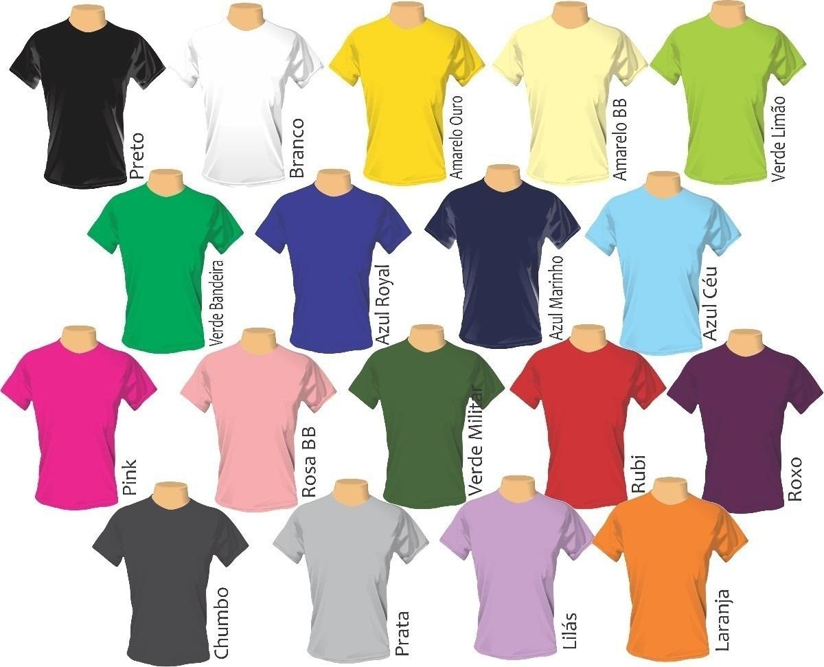 Camisa Malha Pv Kit Com 10 Un Personalizada 2 Cores Silk - R  286 8e90c668bc0