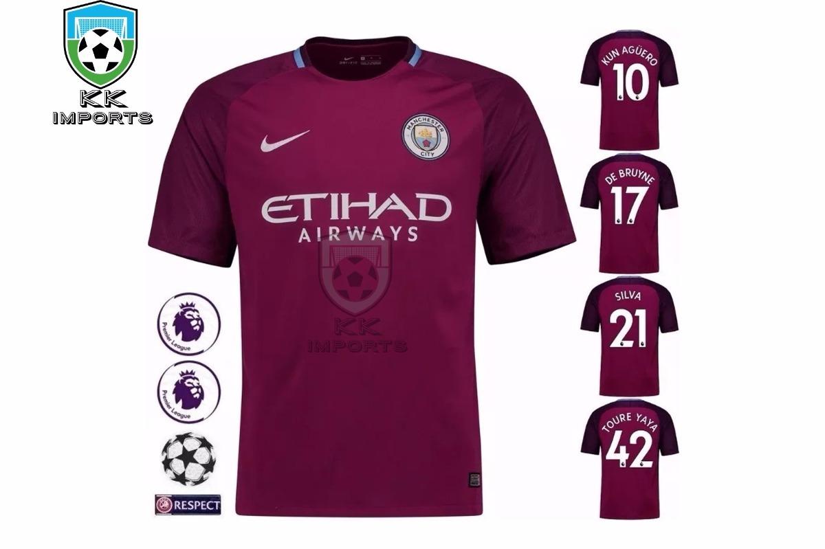 e8fe914c6257a camisa manchester city 2017 2018 uniforme 2 sob encomenda. Carregando zoom.