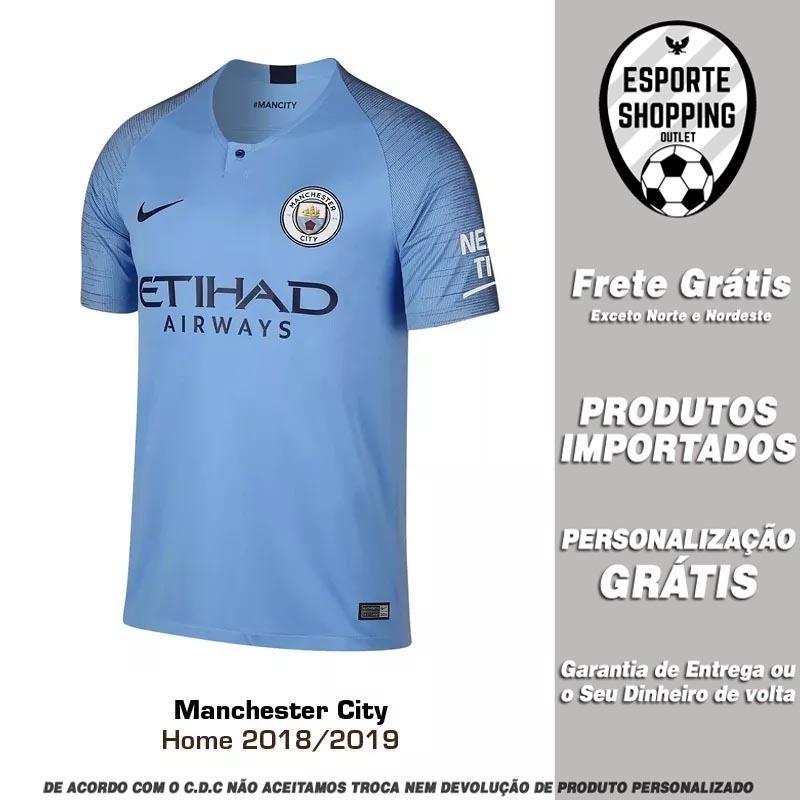 camisa manchester city 2018 2019 home uniforme 1 de bruyne. Carregando zoom. 9725c53c7702b