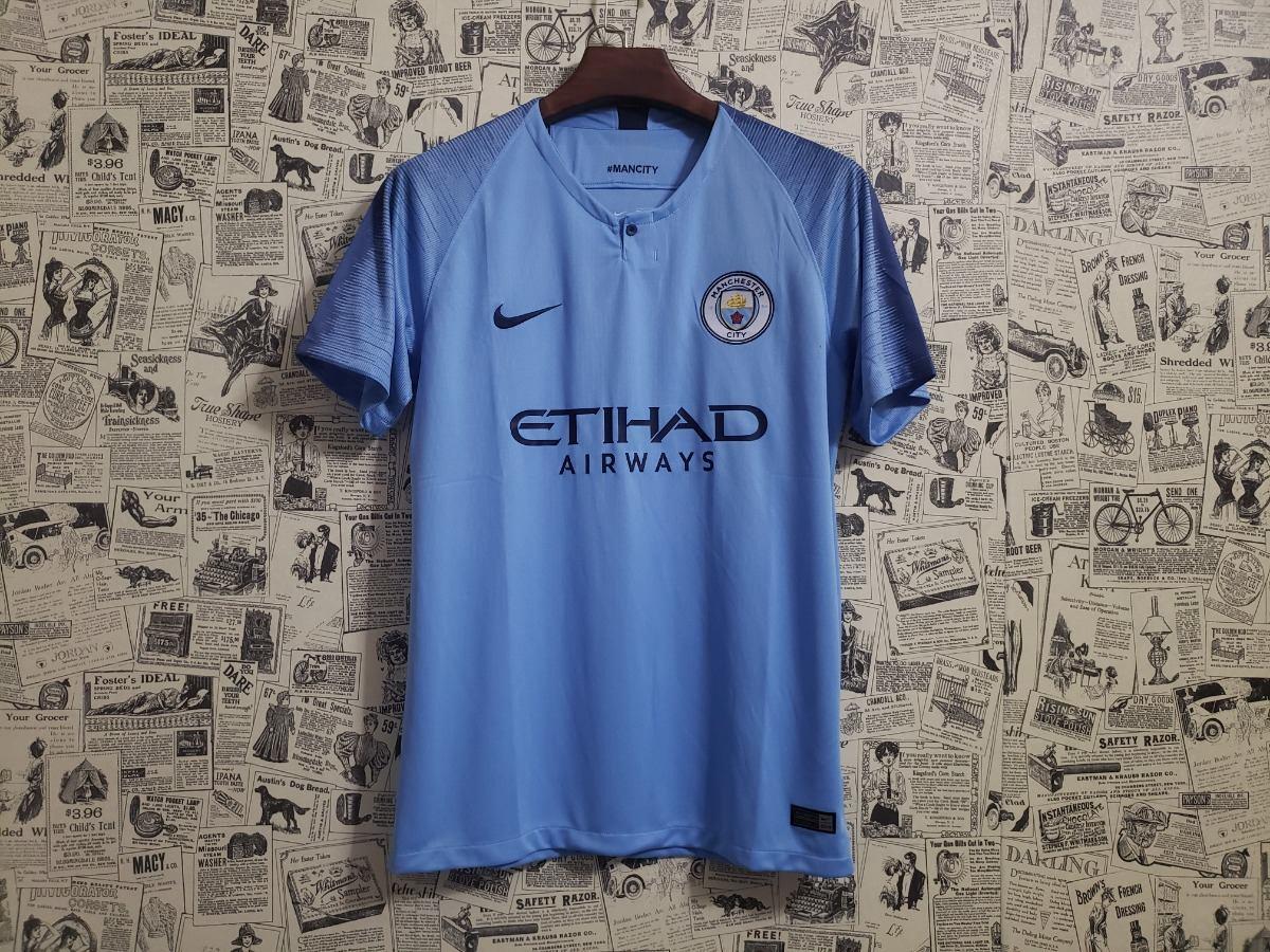 Camisa Manchester City 2018 2019 Uniforme 1 Frete Grátis - R  124 d73e739d1f19a