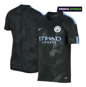 fec452d1a0755 Camisa Manchester City 17/18 - Futebol com Ofertas Incríveis no Mercado  Livre Brasil