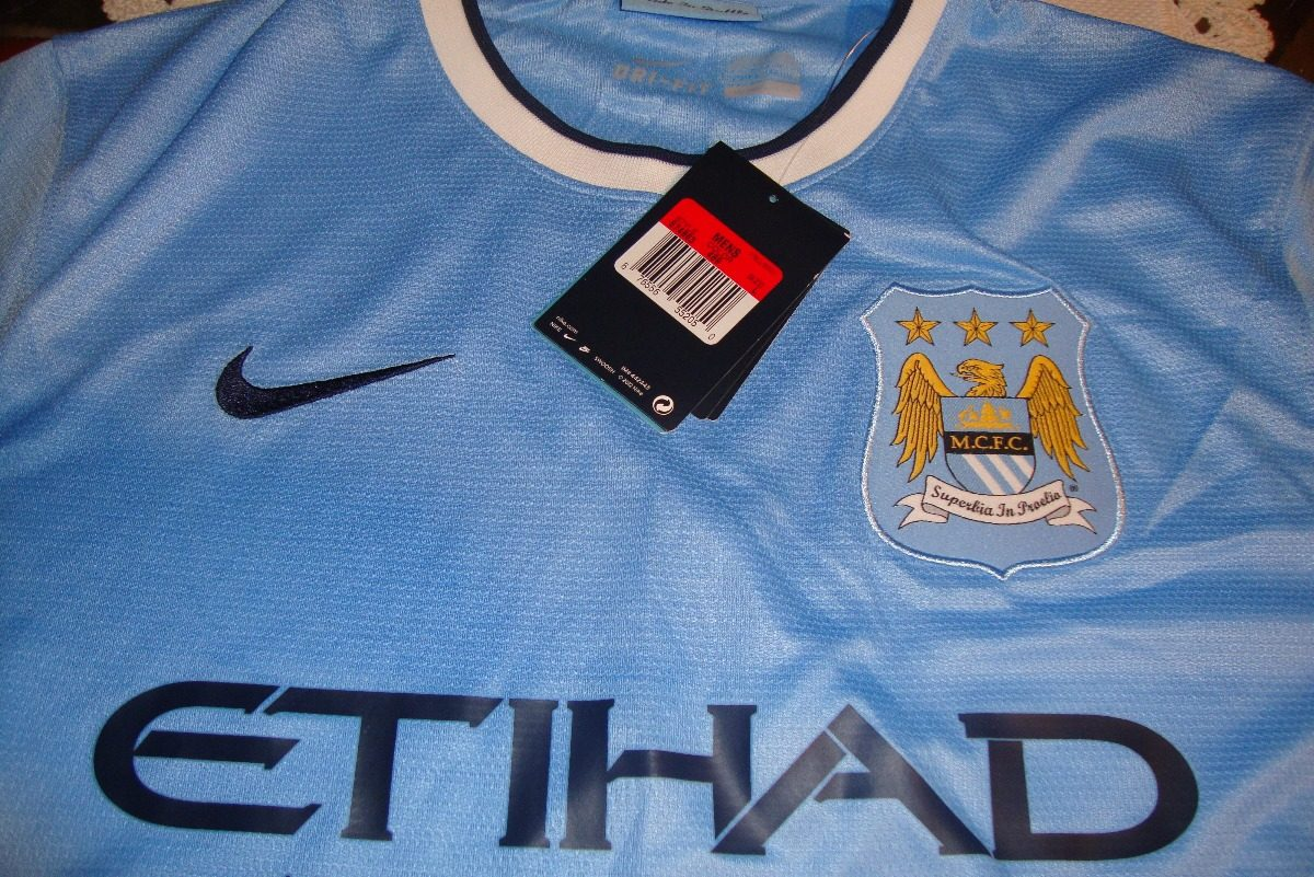 08c087819 Camisa Nike Manchester City - Azul 2013-2014 - R  185