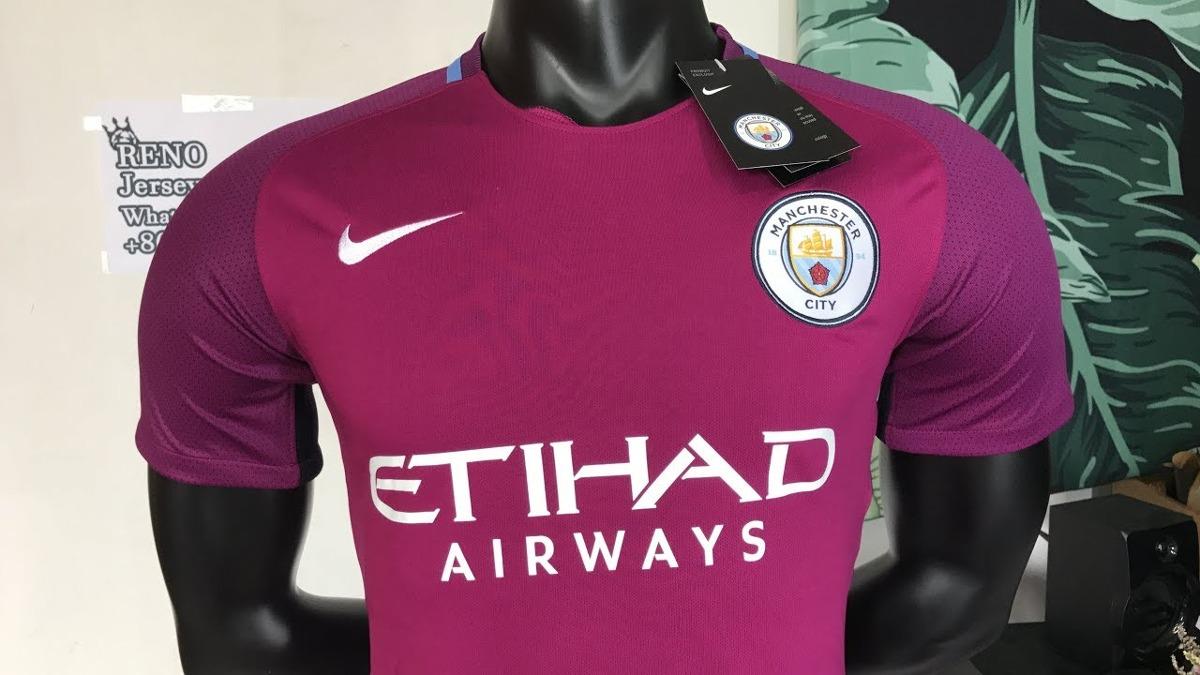 Camisa Manchester City Away Nike 2017 18  8c57d9618bde7