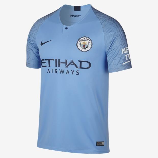 Camisa Manchester City Azul 2018 2019 Home Oferta - R  119 21c3fb022eb26