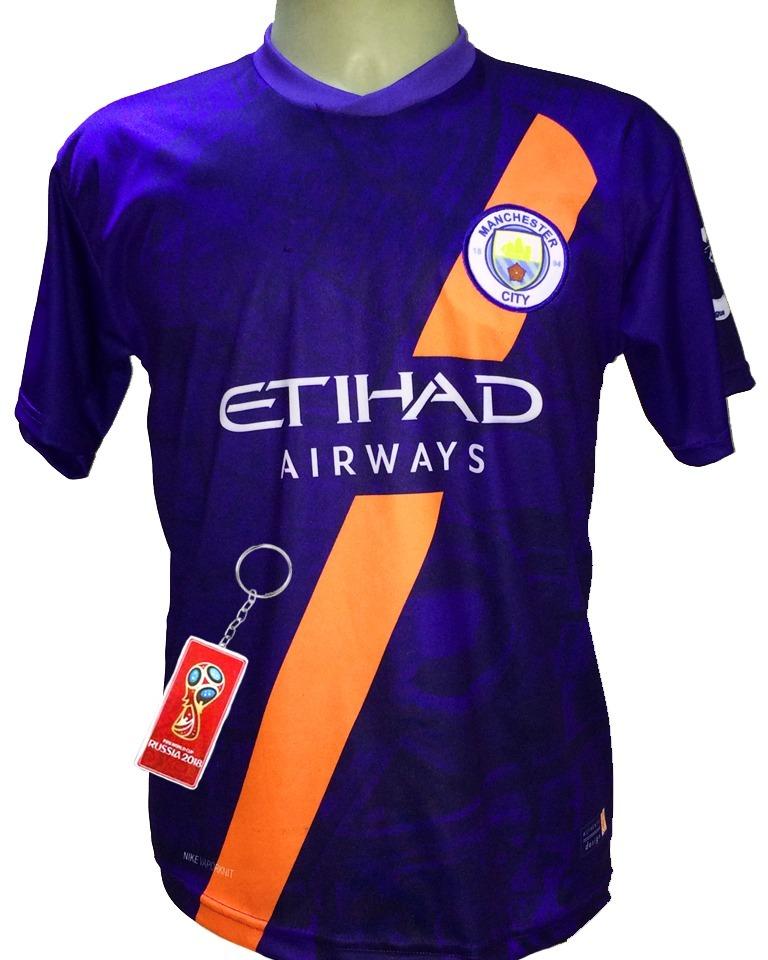 ... Torcedor Nike Masculina - Masculino - Roxo 57229882d210e6  Camisa  Manchester City Índigo Roxa Azul Nova 2018 2019 - R 29 d0b1e01816cec