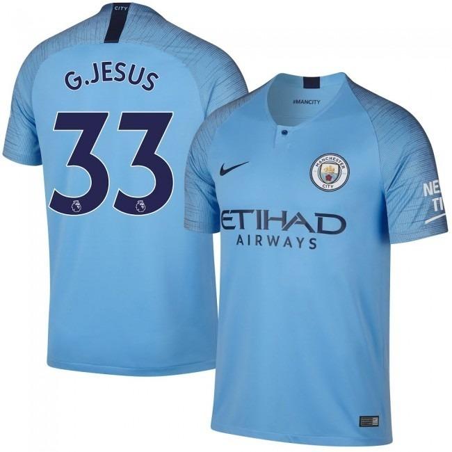 Camisa Manchester City Uniforme 1 2018 2019 Frete Grátis - R  149 f89fbc17ea7bd
