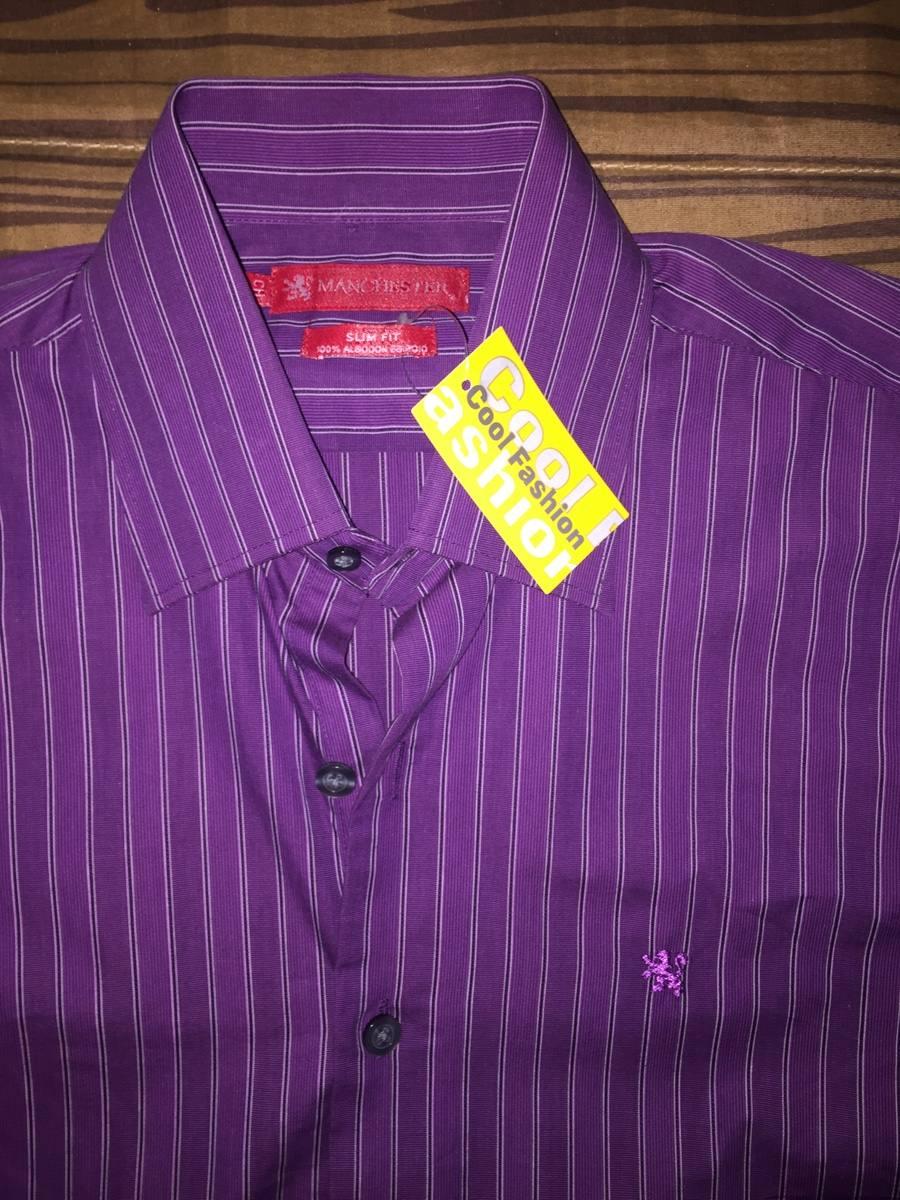 de9235e298cc7 Camisa Manchester Slim Fit Talla S -   300.00 en Mercado Libre