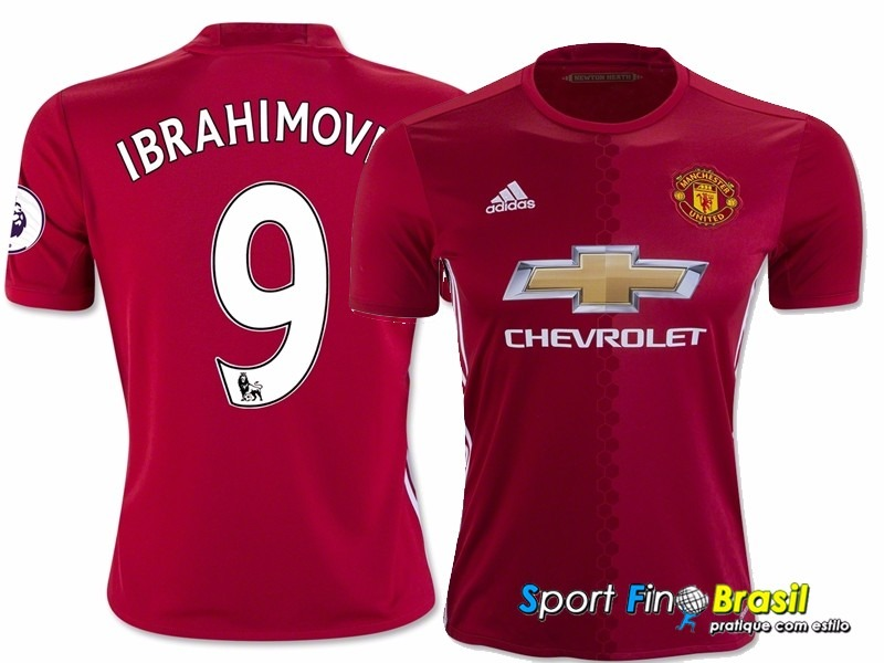 a091a1740 Camisa Manchester United 2016 17 - Ibrahimovic