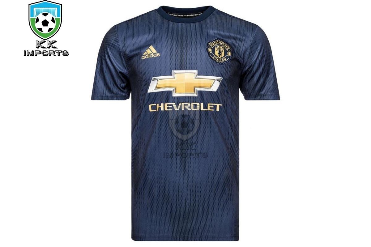 8197dbbc0 camisa manchester united 2018 2019 uniforme 3. Carregando zoom.