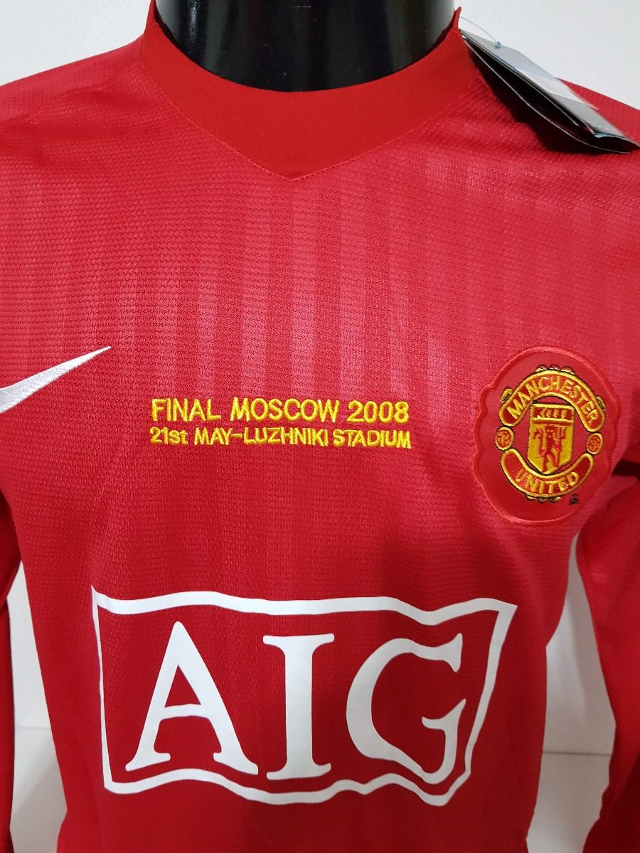 fb3cc44c15 Camisa Manchester United Home 08-09 M Longa Ronaldo 7 Final - R  300 ...