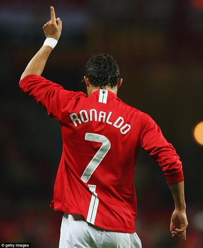 camisa manchester united final champions 2008 ronaldo 7
