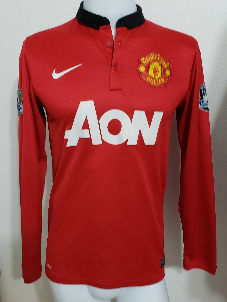 1c874548ca520 camisa manchester united home 13-14 manga longa mata 8. Carregando zoom.
