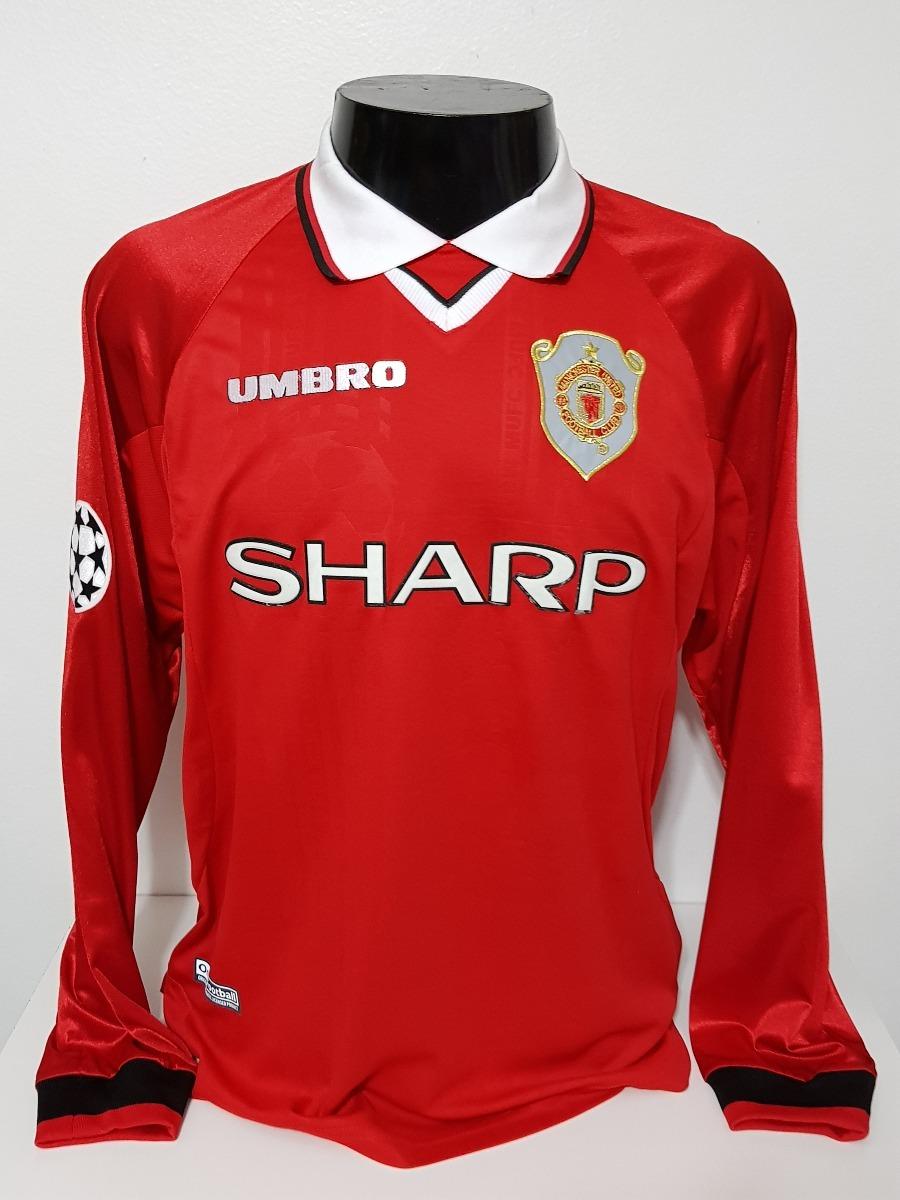 bf7095c60c1c3 camisa manchester united home 99-00 manga longa beckham 7. Carregando zoom.