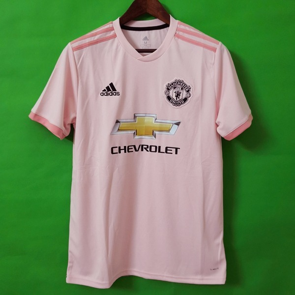 Camisa Manchester United Rosa 18 19 ( Pronta Entrega ) Video - R ... b700f32475ed3