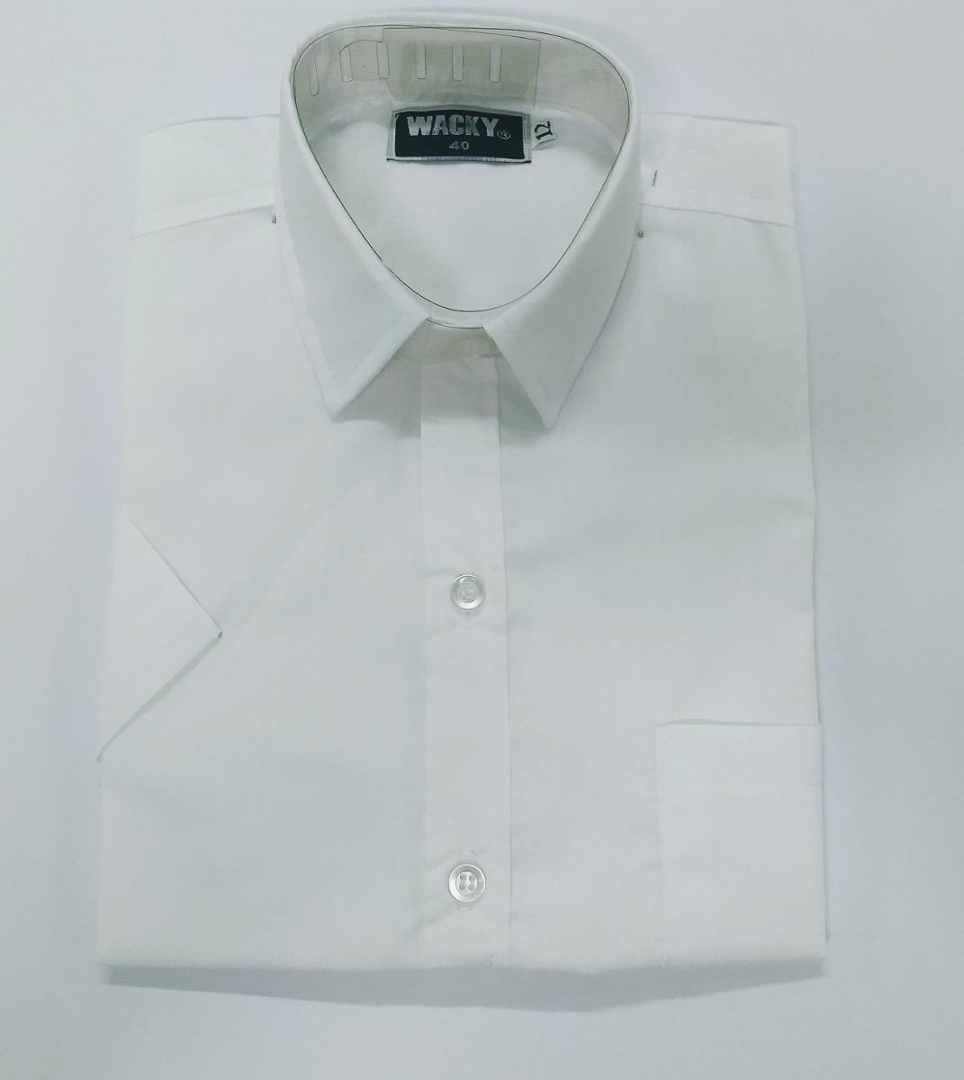 c289956d8 camisa manga corta blanca colegial talle 6 al 16. Cargando zoom.