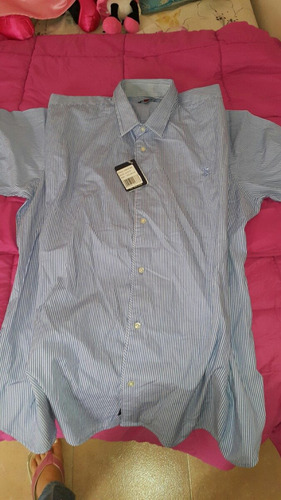 camisa manga corta caballero polo assn original 3xl. nueva