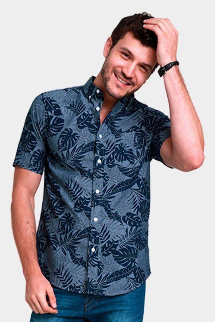 ddff30e64b camisa manga corta hombre caballero flores primavera playa. Cargando zoom.