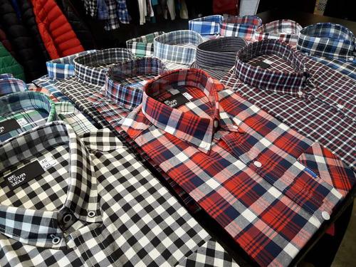 camisa manga corta hombre cuadros be yourself tiendas