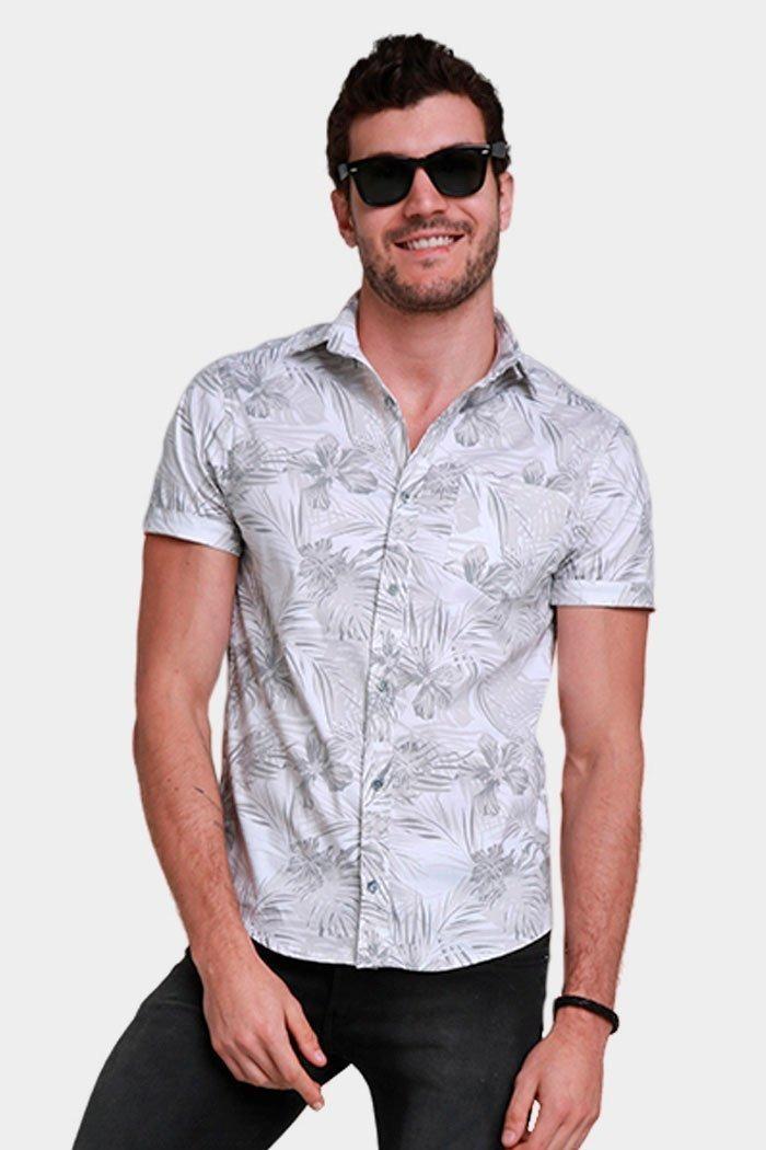 ffd0c23e8 camisa manga corta hombre flores primavera playa blanco. Cargando zoom.
