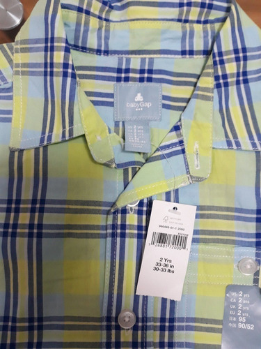 camisa manga corta marca baby gap talla 2