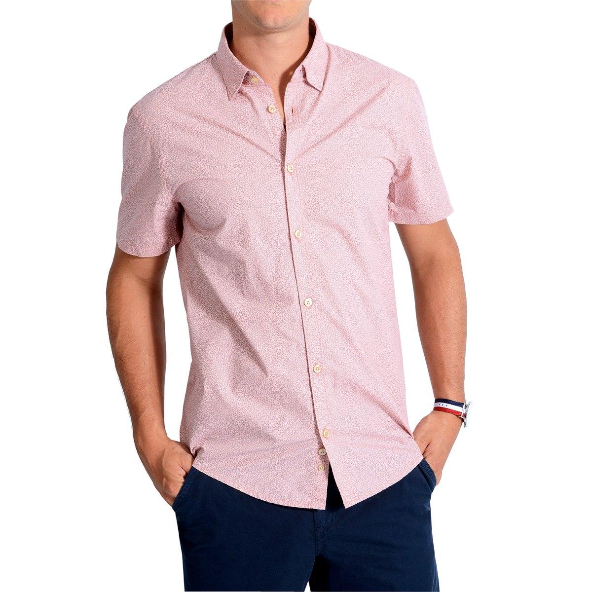 665c35fca Camisa Manga Corta Murray Color Siete Para Hombre - Rosa -   109.900 ...