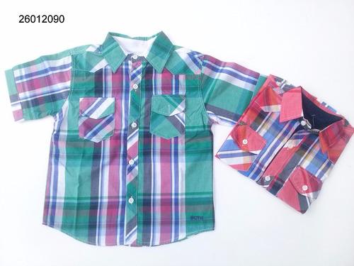 camisa manga corta niño