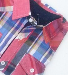camisa manga corta para niño cuadrille