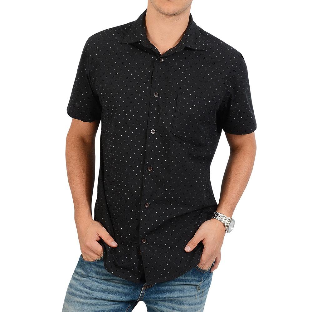 43faa965889 camisa manga corta thompson color siete para hombre - negro. Cargando zoom.