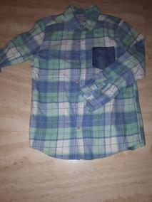 692d71c0d Camisa Manga Larga Azul Marca Zaraboys Tañla 11 12 Para Niño