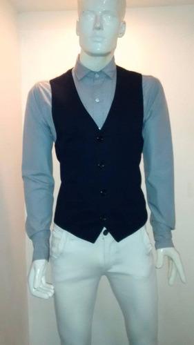 camisa manga larga caballero corte slim
