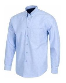 58348cd111b0 Camisa Manga Larga Dotacion Azul Oxford Epp Algodon Poliest