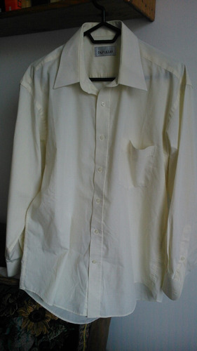 camisa manga larga hombre amarilla