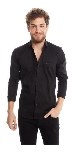 camisa manga larga lisa negra hombre outside tokyo 1352