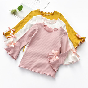 6d8159a45 Camisa Manga Larga Para Bebé Niña Ropa Por Mayoreo 3pieza