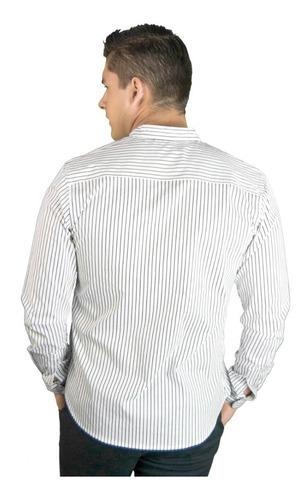 camisa manga larga stretch