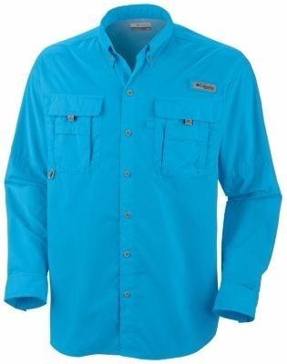 camisa manga larga talla small color azul vívido