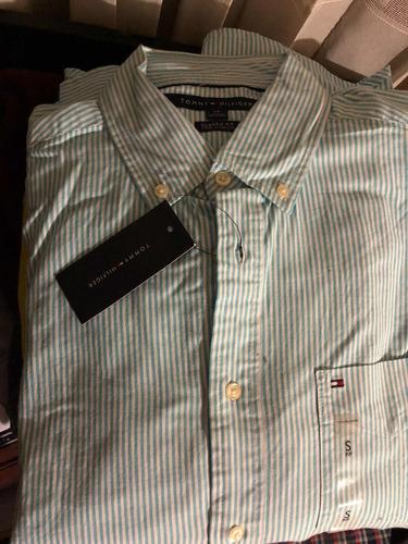 camisa manga larga tommy hilfiger original de hombre