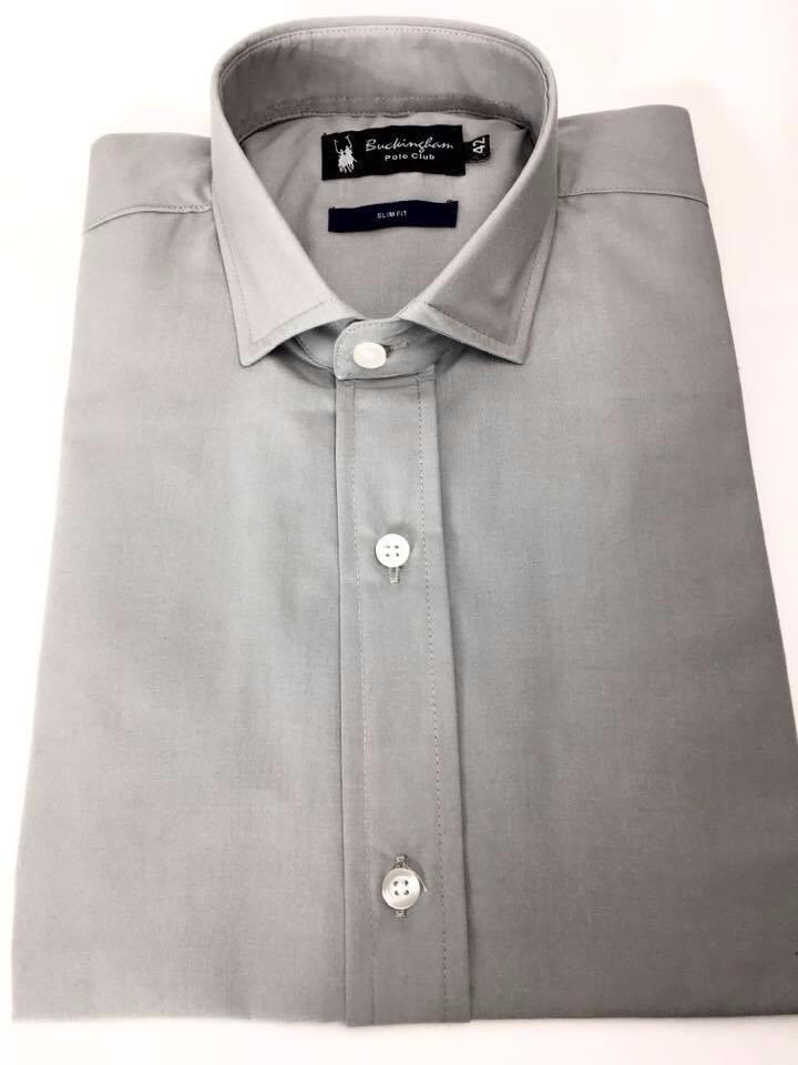 zoom ocre Cargando larga nuevo camisa entallada gris manga vestir hombre  zqUUpT7Aw 350e6d2d81fdc