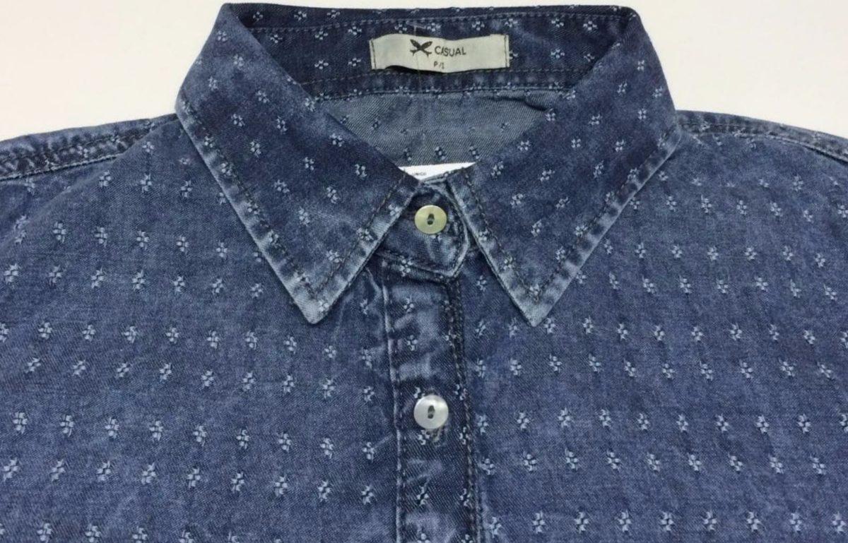 cf37062fa Camisa Jeans Trabalhada Manga Longa Feminina - Hering - R$ 119,99 em ...