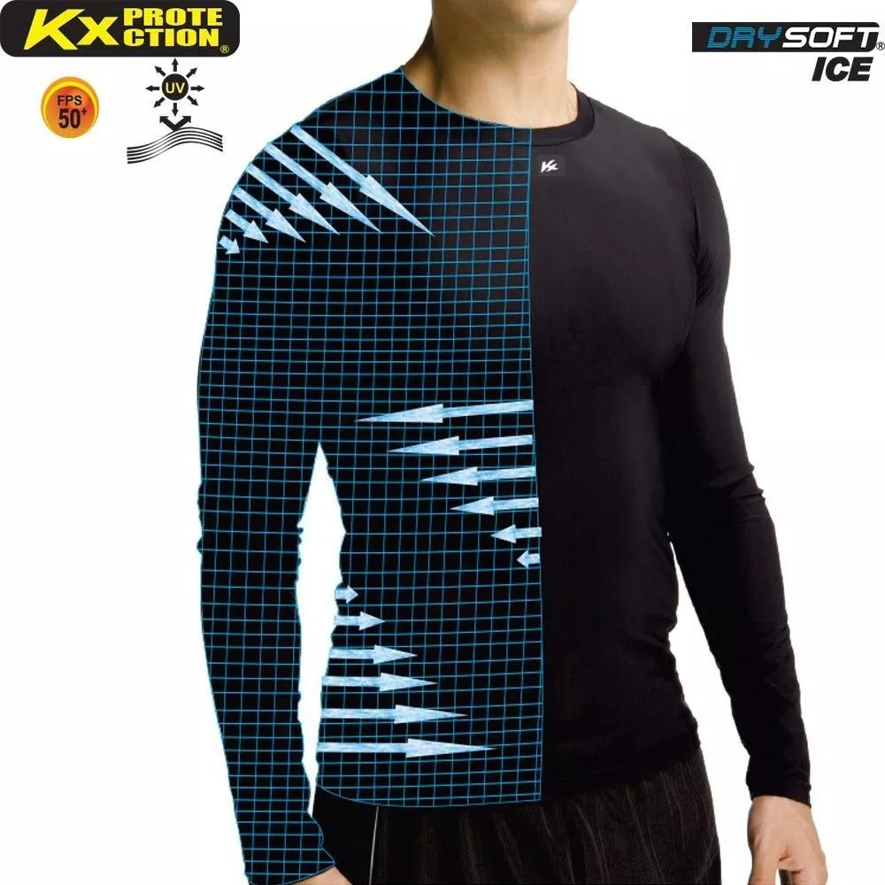 Camisa Térmica Manga Longa Kanxa Alta Compressão - R  68 f8d5c6add18a3