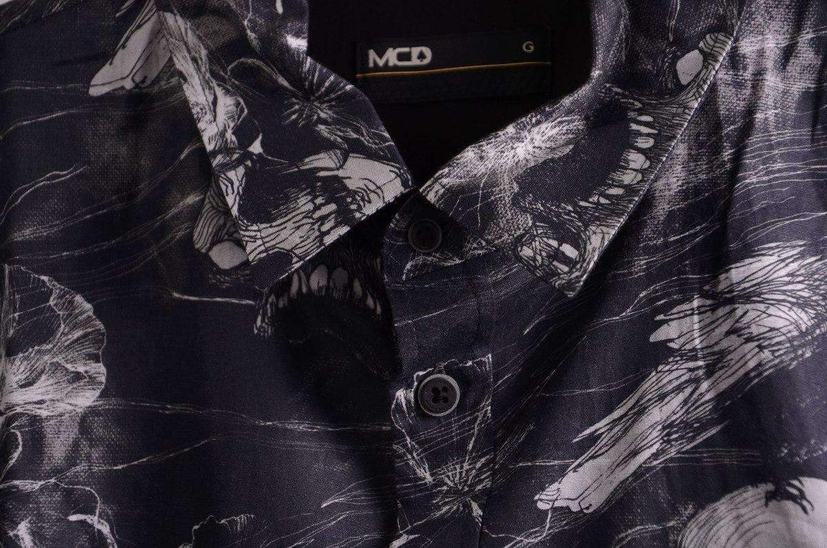 f07877fffd935 Camisa Mcd Manga Longa Desert Lines Coleção Inverno 17 Preto - R ...