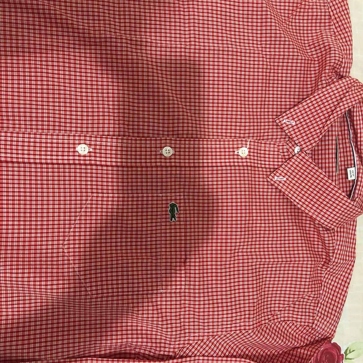 camisa xadrez lacoste manga longa tamanho 43. Carregando zoom... camisa  manga longa. Carregando zoom. 4b331a6ae3