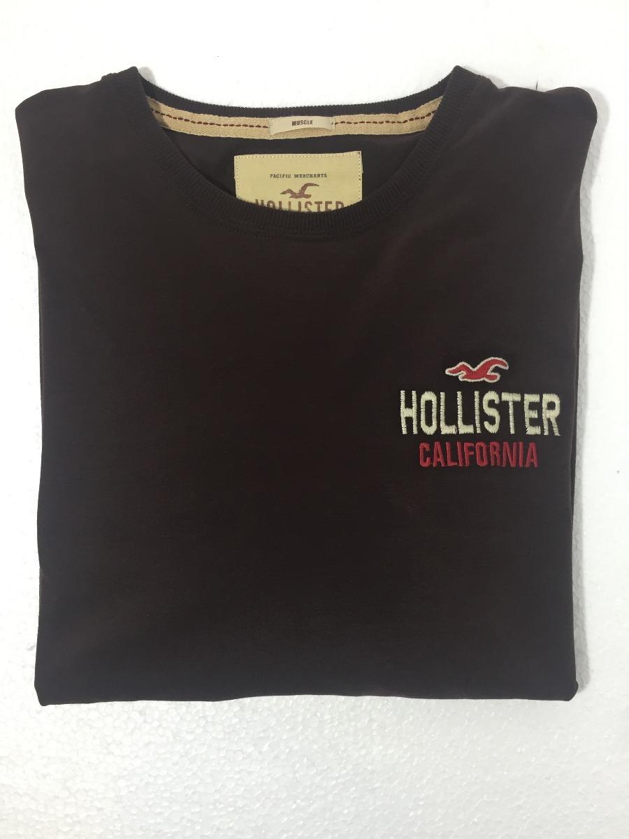 fbacc4f53a Camisa Blusa Masculina Manga Longa Hollister Abercrombie - R  169