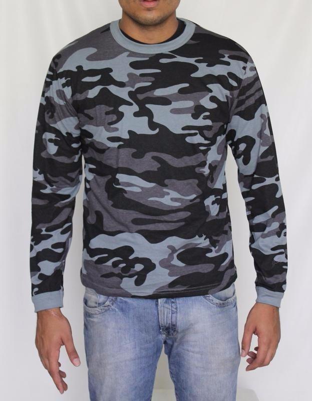 fd7eceb144942 Camisa Camuflada Urbano - Manga Longa - R  59