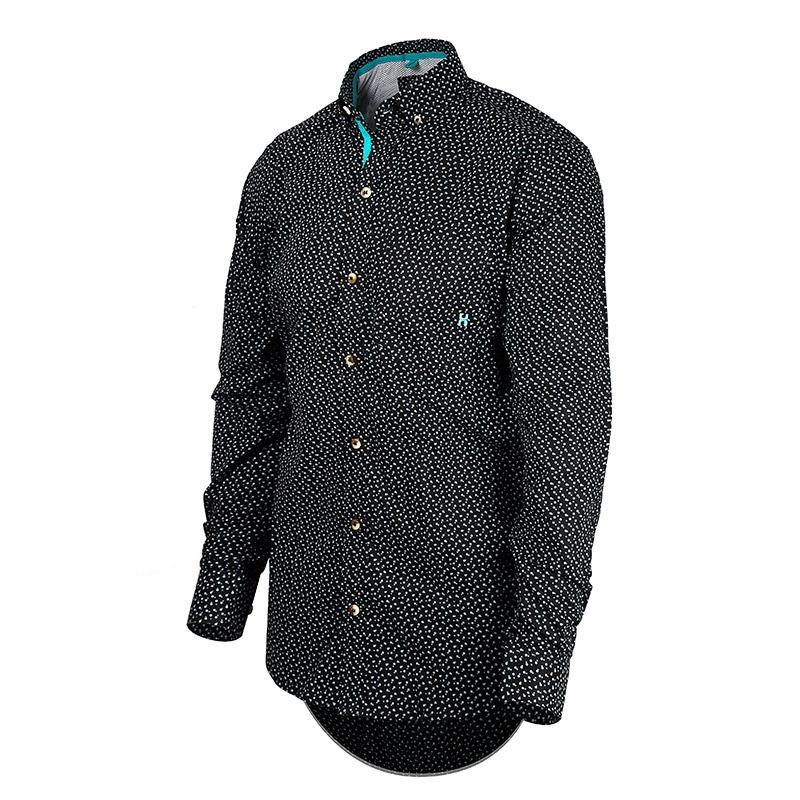 f7c712f975 Camisa Masculina Manga Longa Txc Preta 2046l - R  169