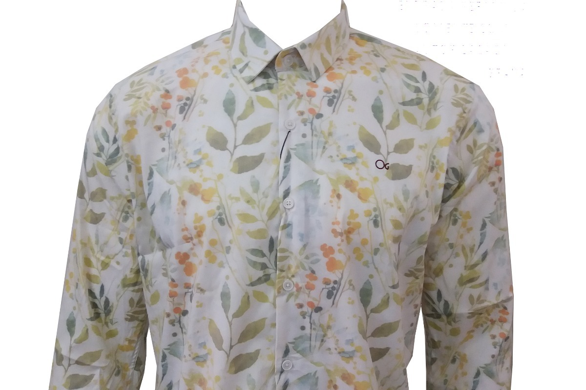 aa2dd28250 Camisa Masculina Estampada Manga Longa Ogochi 001398512 - R  239