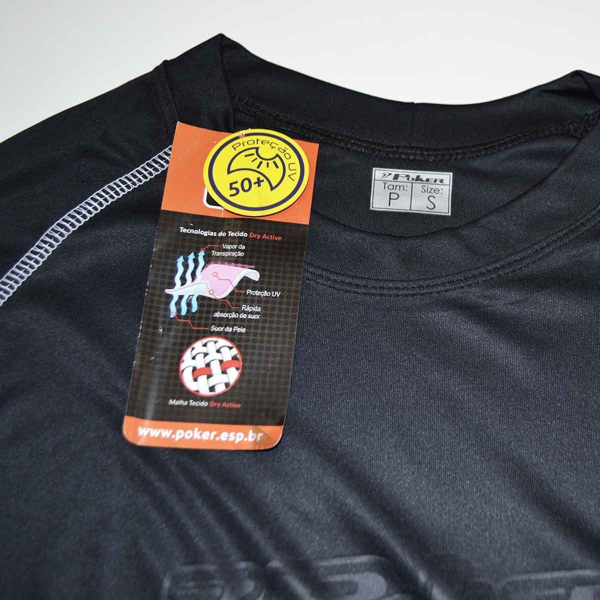 Camisa Manga Longa Poker Proteção Solar Fps 50+ Frete Grátis - R  79 ... 5cf2625456a0f
