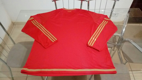 camisa manga longa adidas oficial time forest inglaterra