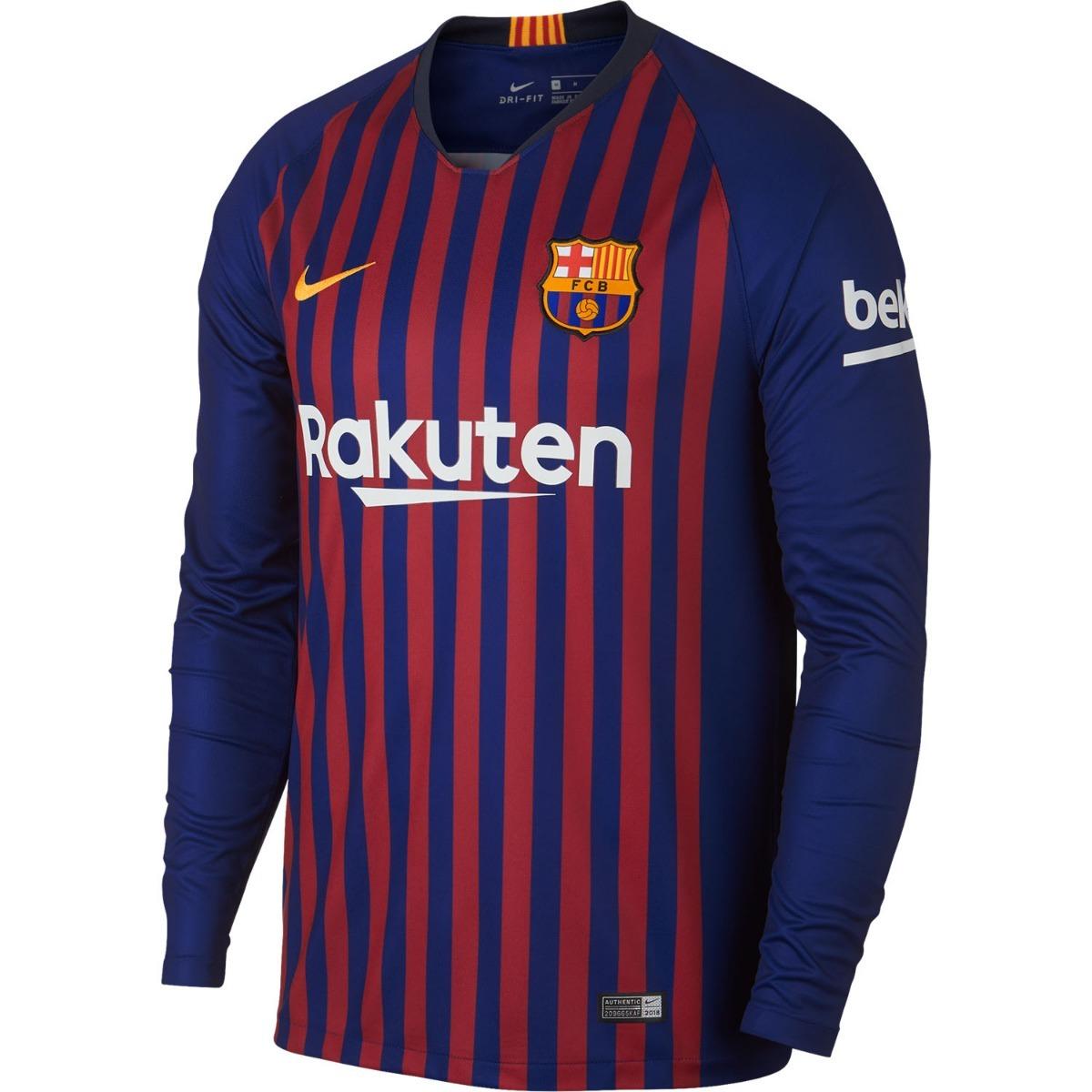 camisa manga longa barcelona 2018-2019 original frete gratis. Carregando  zoom. 739d4b7330ff0