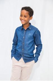 f0dc30f224ba Camisa Jeans Infantil - Camisas Masculinas com o Melhores Preços no ...